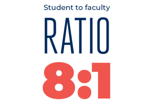 Student to Faculty Ratio 8:1