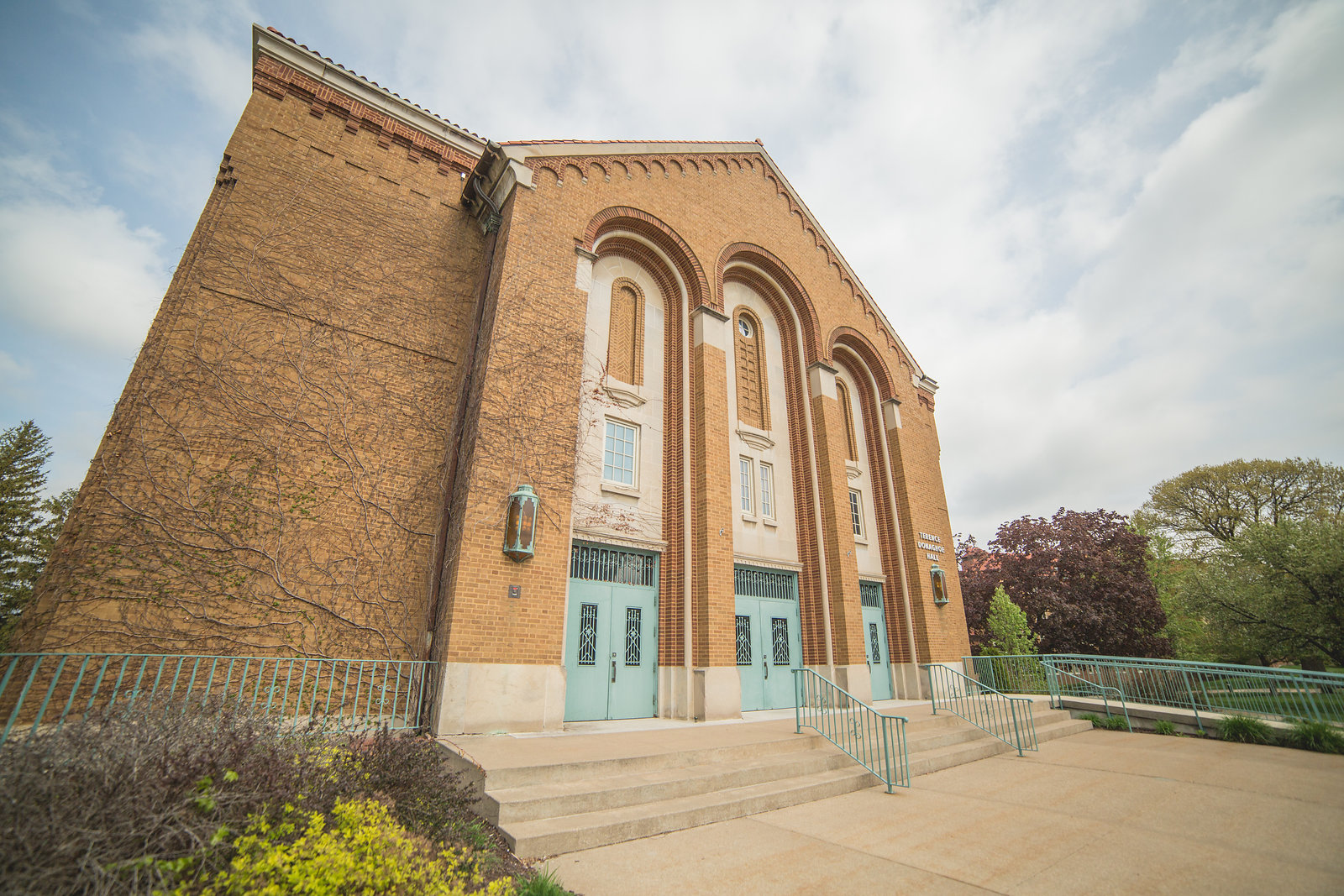 Exterior shot of Donaghoe Hall