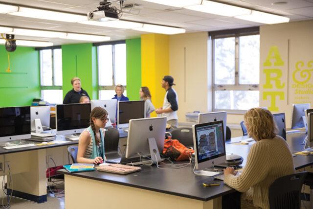 Clarke University Graphic Design Lab in the Art Campus