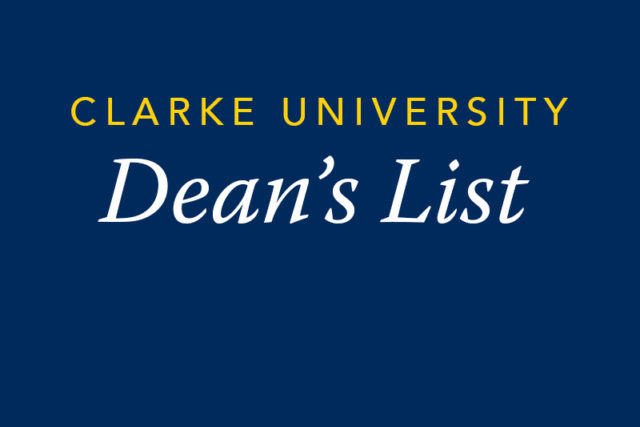Clarke Deans List Graphic