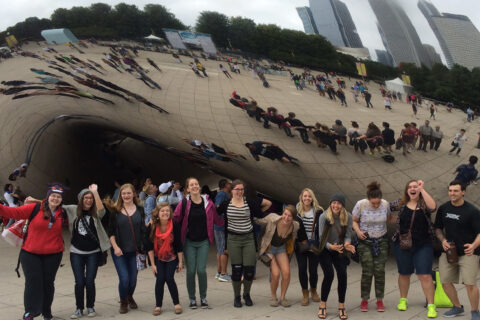 Clarke University Graphic Design Majors attending Exhibitions in Chicago