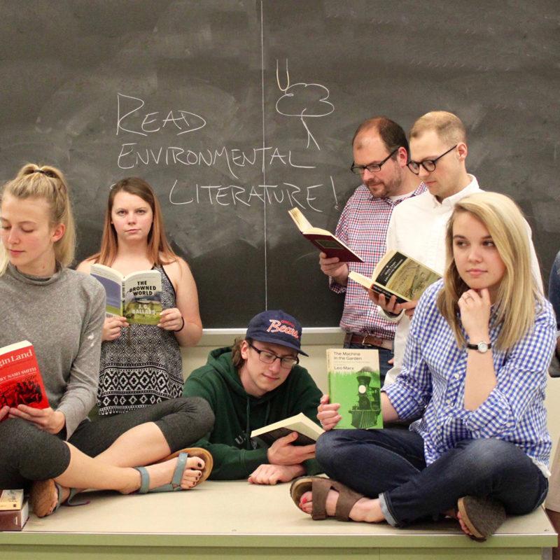 Clarke University English Degree Students in class.