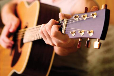 Music Majors Studying Guitar at Clarke University