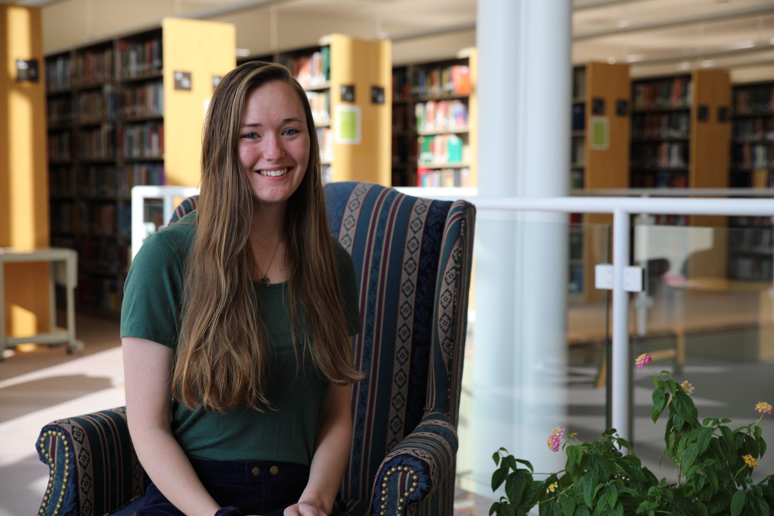 Clarke University education student, Jenna Weber, talking about landing a job