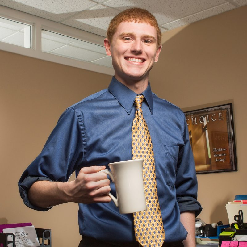 Accounting major Kyle Collins