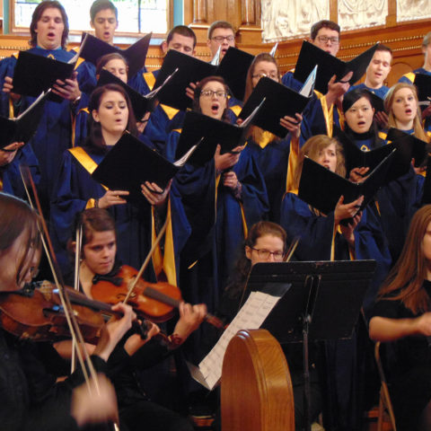 Clarke University Music Majors in choir
