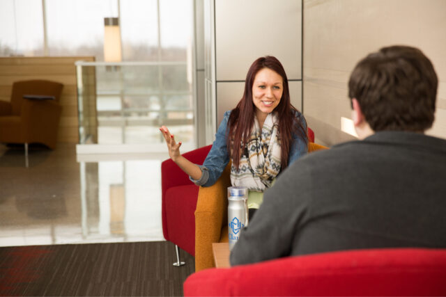 Clarke University Bachelors of Social Work Degree Students Studying