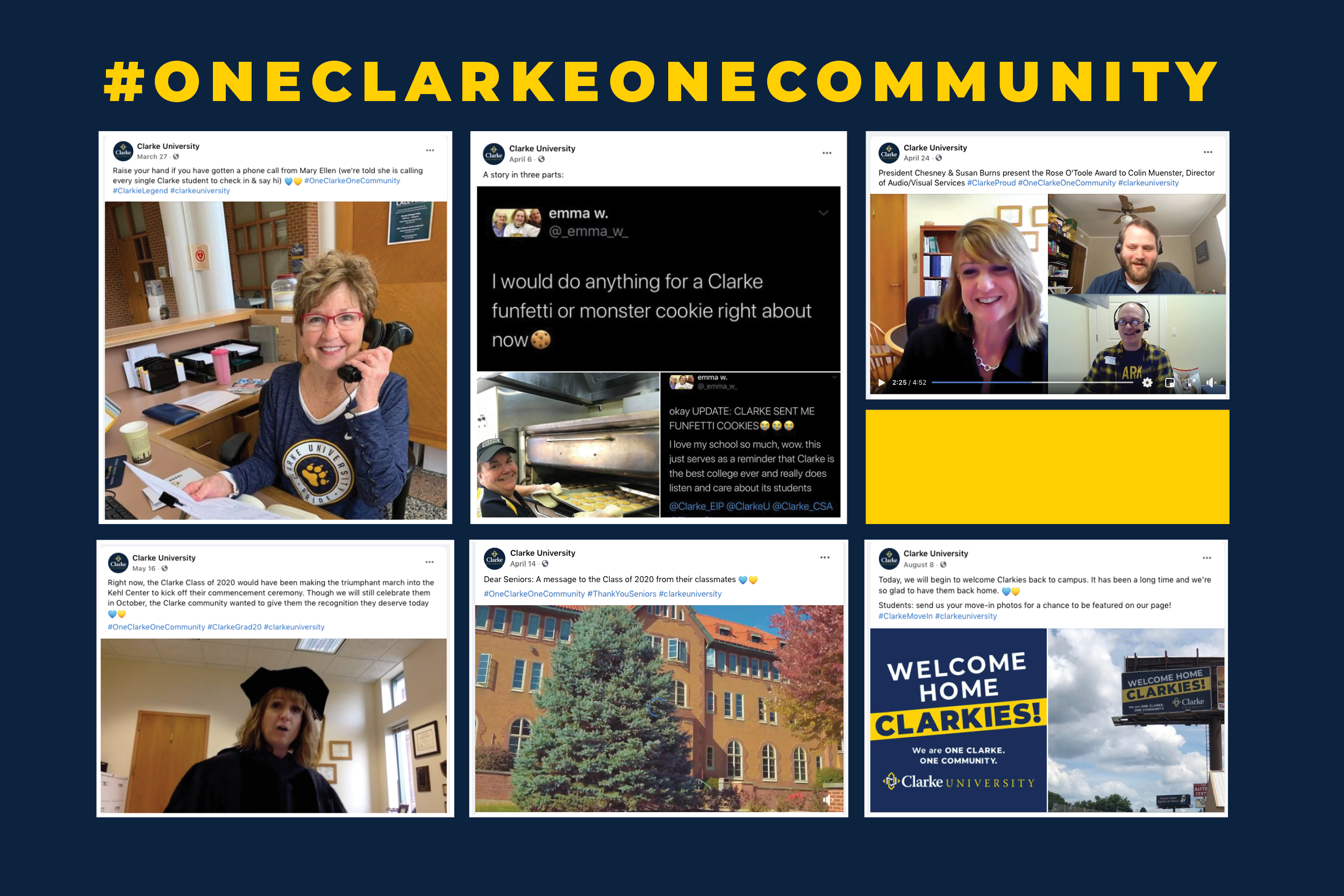 Clarke Marketing Team unites One Clarke One Community