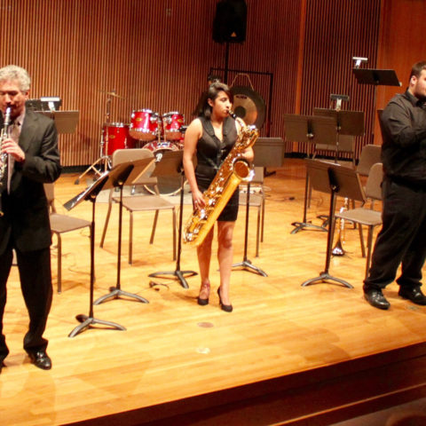 Clarke University Music Degree Program Students Learning in Class