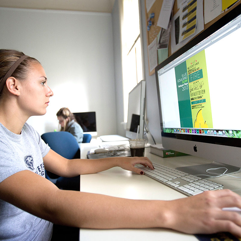 Communications Majors have full access to Clarke'sm media studies computer lab