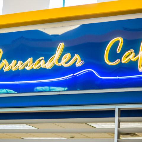 Crusader cafe sign