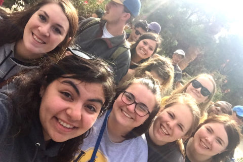 Group of Clarke students while studying abroad in Ecuador