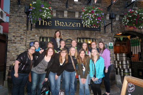 Clarke students studying abroad in Ireland