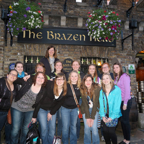 Clarke University music degree program students studying abroad in Ireland